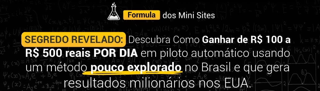fórmula dos mini sites 3.0